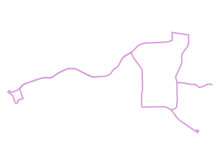 Map showing location of Holt-Alberta: Route